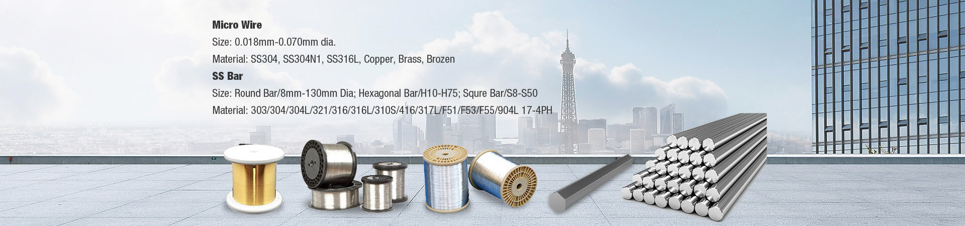 Stainless Steel Bar& Metal Micro- wire