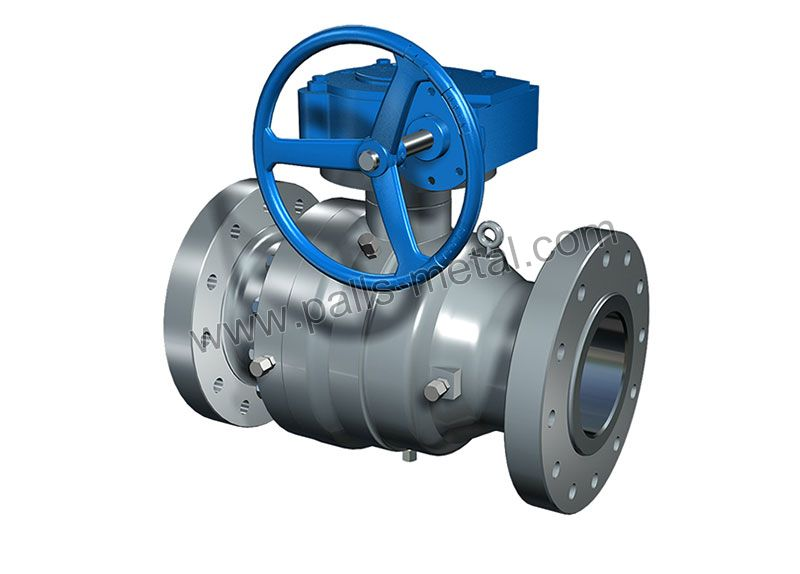 Cast-Steel-Trunnion--mounted-Ball-Valve